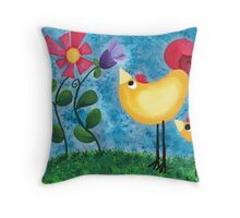 Going for a stroll Throw Pillow