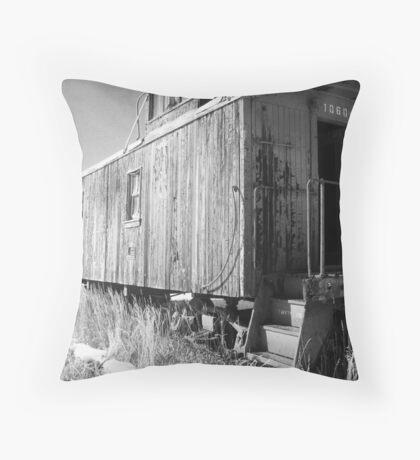 Antique train car Throw Pillow