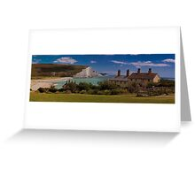 Coastguard Cottages and the Seven Sisters, England Greeting Card
