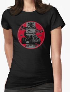 Imm. Joe's monster trucks Womens Fitted T-Shirt