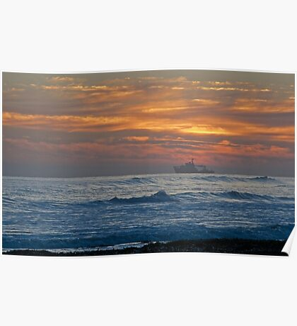Dawn over Northumberland Poster