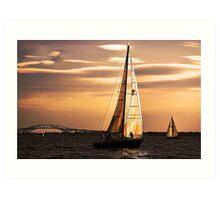 Sails of Gold Art Print