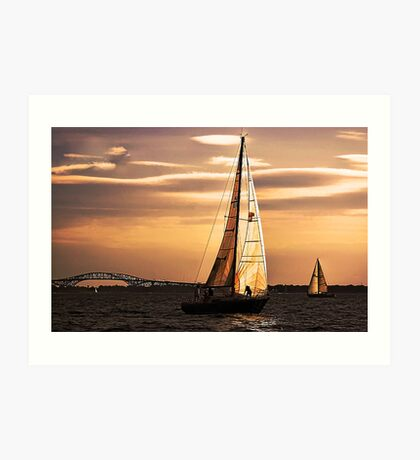 Sails of Gold Art Print