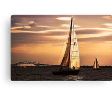 Sails of Gold Canvas Print