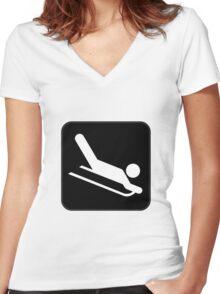 Sled Women's Fitted V-Neck T-Shirt