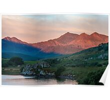 Snowdon Horseshoe at Sunrise Poster