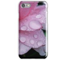 raindrops on pink iPhone Case/Skin