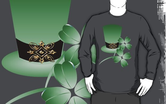 Irish Hat and Shamrocks by Lotacats