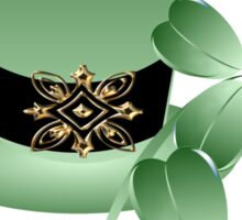 Irish Hat and Shamrocks Sticker