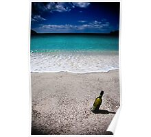 Wine Bottle at Wineglass Bay Poster