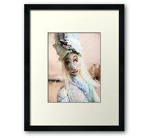 Blue doll Framed Print