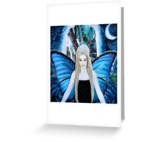 butterfly fairy at night Greeting Card