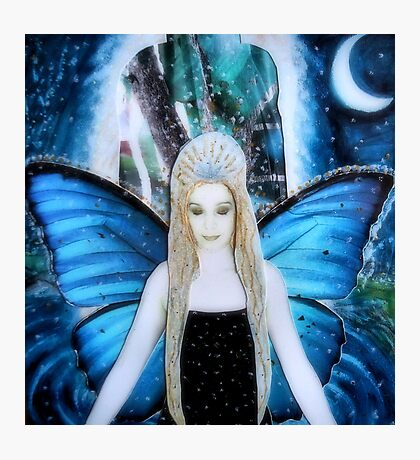 butterfly fairy at night Photographic Print