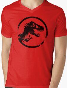 Jurassic park/world logo Mens V-Neck T-Shirt