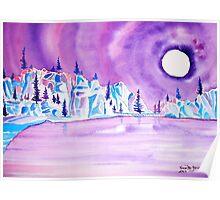 Moonlight on Sylvan Lake Poster