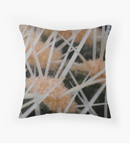 Prickles of a cactus Throw Pillow