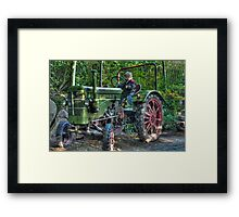 Old Tractor - HDR Framed Print