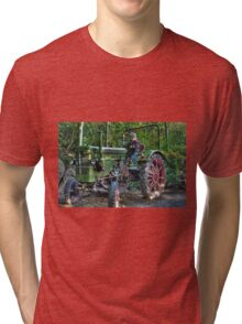 Old Tractor - HDR Tri-blend T-Shirt