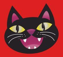 Black cat happiness Baby Tee