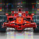 2008 Ferrari F1 Racing Car Kimi Raikkonen by Yuriy Shevchuk
