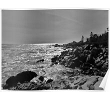 Rocky Coast in Maine Poster