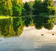 Impressions of Summer - St James's Park Lake Reflections Sticker