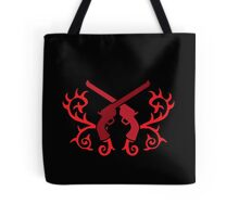 Red pistol guns with thorns Tote Bag