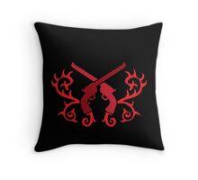 Red pistol guns with thorns Throw Pillow