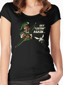 Say Listen Again Women's Fitted Scoop T-Shirt