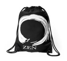 7 DAY'S OF SUMMER-YOGA ZEN RANGE- WHITE ENSO Drawstring Bag