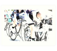 The Art of Cycling  Art Print