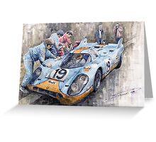 Porsche 917 K GULF Le Mans 1971 Mueller Attwood Greeting Card