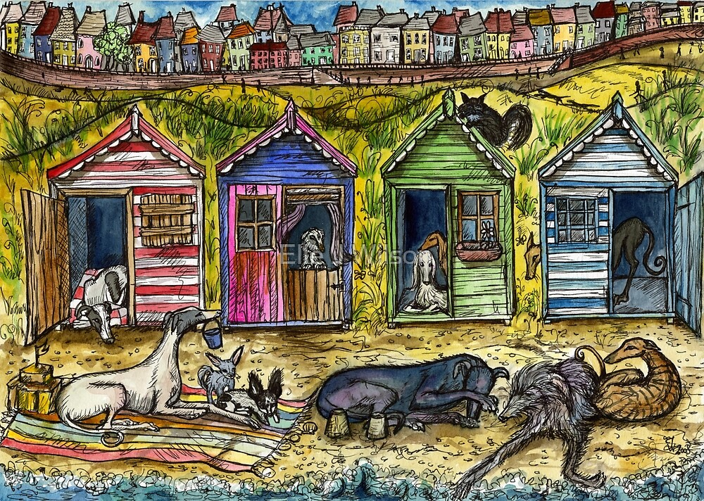 THE BEACH HUTS by Elle J Wilson