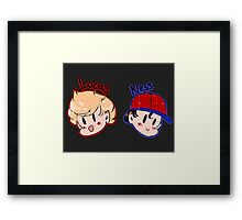 Ness and Lucas! Framed Print