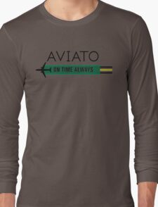 Aviato! On Time Always (Black)- Silicon Valley Long Sleeve T-Shirt