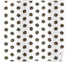 Rubik's Cube Pattern Poster