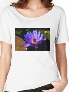 Upbeat Violet Elegance - the Beauty of Waterlilies Women's Relaxed Fit T-Shirt