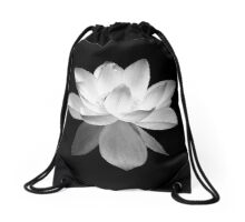 7 DAY'S OF SUMMER-YOGA ZEN RANGE- BLACK & WHITE LOTUS Drawstring Bag
