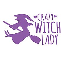 Crazy Witch Lady  Photographic Print