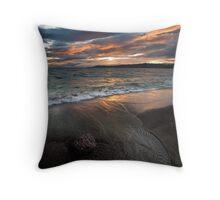Flaming black sands Throw Pillow