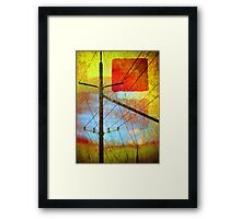 The Colours that Pretend to be the Sky Framed Print