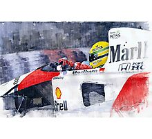 Ayrton Senna McLaren 1991 Hungarian GP Photographic Print