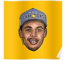 TEAM CURRY - Nba Champions 2015 - SMILE DESIGN Poster