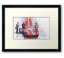 Ferrari 206 SP Dino 1966 Nurburgring Pit Stop Framed Print
