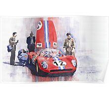 Ferrari 206 SP Dino 1966 Nurburgring Pit Stop Poster
