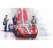 Ferrari 206 SP Dino 1966 Nurburgring Pit Stop Photographic Print