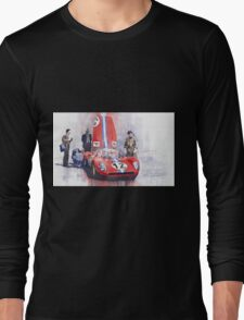 Ferrari 206 SP Dino 1966 Nurburgring Pit Stop Long Sleeve T-Shirt