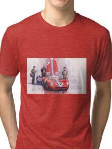 Ferrari 206 SP Dino 1966 Nurburgring Pit Stop Tri-blend T-Shirt