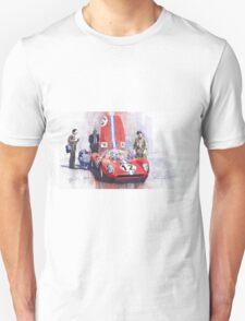 Ferrari 206 SP Dino 1966 Nurburgring Pit Stop T-Shirt