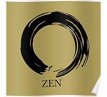 7 DAY'S OF SUMMER-YOGA ZEN RANGE- GOLD ENSO Poster